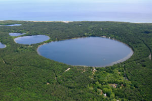 Cape Cod Kettle Hole Pond Aerial